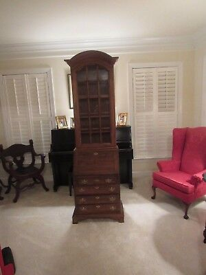 Gorgeous House Solid Cherry Ladies Drop Front Desk/Secretary with Key Lock