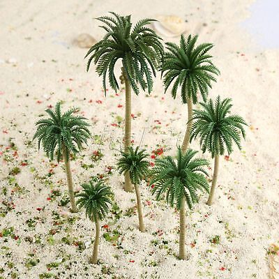 15Pcs Multi Sizes Coconut Palm Trees For Railway Layout DIY HO O N Z Scale