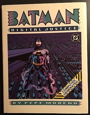 BATMAN Digital Justice (1990) DC Comics Hardcover Graphic Novel VF+ 8.5