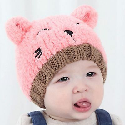 New Toddler Kids Girl Boy Baby Infant Winter Warm Crochet Knit Hat Beanie Cap