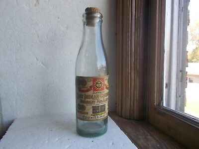 East Indian Condiments Poonjiajee & Sons Bombay Labeled Spice Bottle W/cork