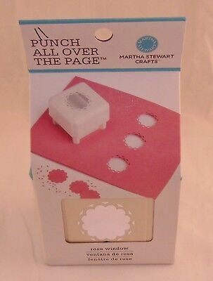 Brand New Martha Stewart Crafts Punch All Over The Page Rose Window 42-90007