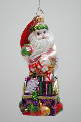 NWT CHRISTOPHER RADKO SWEETLY SEATED Tropical Santa Claus ORNAMENT Fruit Holiday