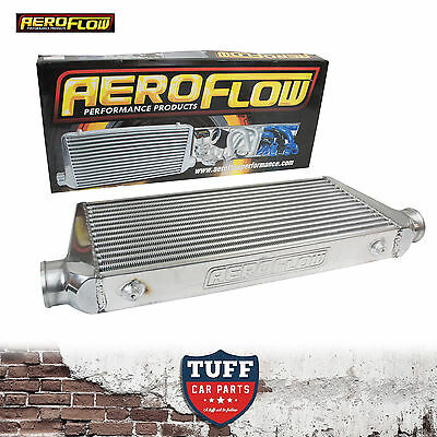 """Aeroflow 600x300x76 Alloy Intercooler Polished with 3"""" Inlet Outlet AF90-1000"""