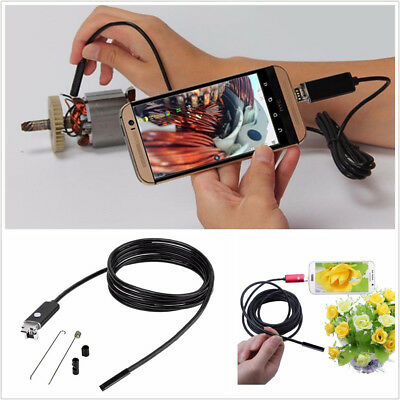 Vehicles 5M 6LED 7mm HD 2In1 USB Android Endoscope Inspection Camera Waterproof