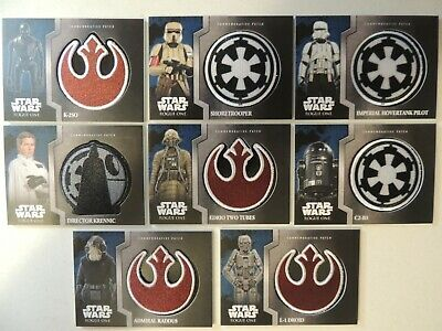 Star Wars Patch Lot Of 8 Krennic K-2So Raddus Droid Edrio C2-B5 See Pics For Lot