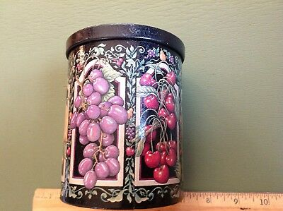 Round English Fruit Candy Tin Can Box