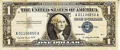 Series 1957 A      One Dollar Silver Certificate==Circulated