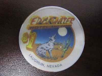 $1 EDGEWATER Hotel and Casino Laughlin NV Coyote Design Casino Gaming Chip