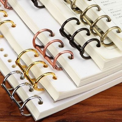 2pcs A5 A6 Notebook Binder Spiral Ring Refillable Loose Leaf Rings Vintage Metal
