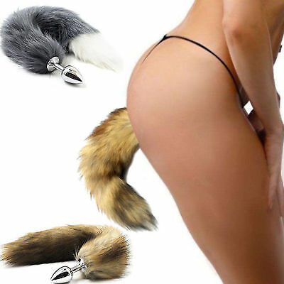 Faux Fox Tail Anal Butt Plug Love Sexy Romance Sexual Funny Toy Roleplay Cosplay