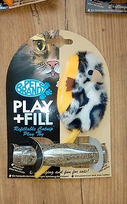 PLAY + FILL Cat/Kitten Toy Refillable CATNIP X1 (Blue)