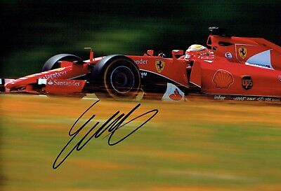 Esteban GUTIERREZ SIGNED Ferrari Test Driver F1 Race Photo AFTAL COA Autograph