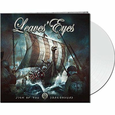 LEAVES EYES Sign Of The Dragonhead LIMITED LP GATEFOLD WHITE VINYL 2018