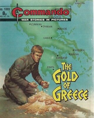The Gold Of Greece,commando War Stories In Pictures,no.1069,war Comic,1976