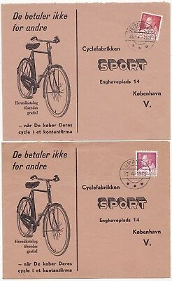 * 1966/9 2 Greenland Advertising Covers Bicycles Umanak & Frederikshab Postmarks