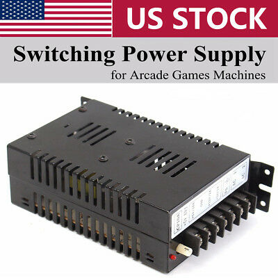 Output 5V/10A 12V/2A -5V/1A Switching Power Supply For Jamma Arcade/ Pinball US