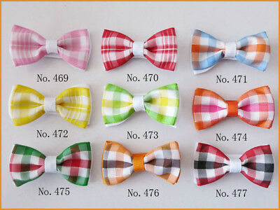 "50 BLESSING Good Girl Boutique 2"" Double Bowknot Hair Bow Clip Accessories"