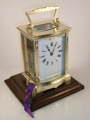 Antique French carriage clock C1910. With key. Restored & serviced in Nov. 2017.
