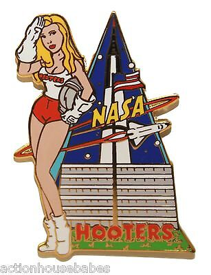 Hooters Sexy Nasa Girl Texas Astronaut/shuttle/rocket Johnson Space Center Pin