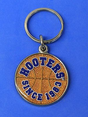 Hooters Since 1983 Orange Metal Basketball Key Ring Keychain
