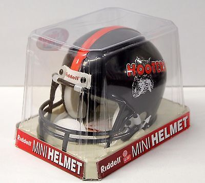 Football Mini Helmet - Black  - Hooters - Riddell - New!