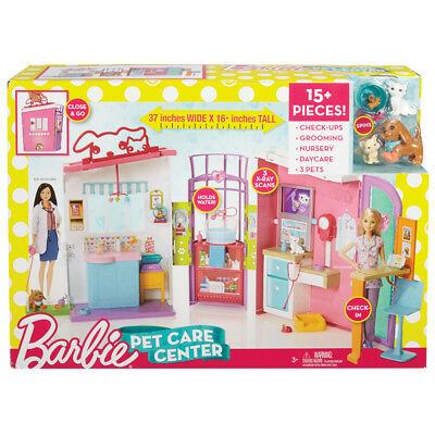 Barbie Playset Pet Care Centre Girls Kids Toy Animal Veterinary Vet Centre