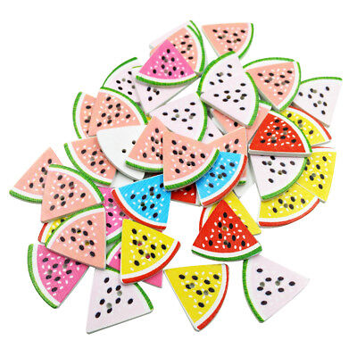 EG/_ 50Pcs Watermelon Triangle 2 Holes Buttons DIY Scrapbooking Accessories Eager