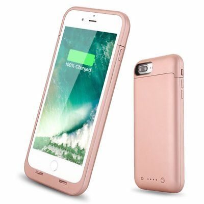 For iPhone 8 7 Plus Battery Case Portable Charging Rechargeable Power Bank Cover