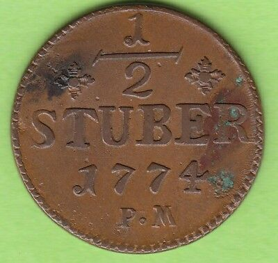 Julich-Berg 1/2 Stuber 1774 very nice nsw-leipzig