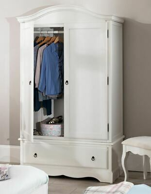 ROMANCE Double Wardrobe, Stunning white wardrobe with deep drawer QUALITY