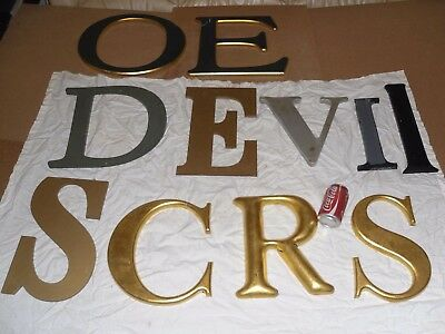 "Max 16"" Job Lot 11 Large Old Shop Sign Letter Resin C D E I O R S V Name Initial"