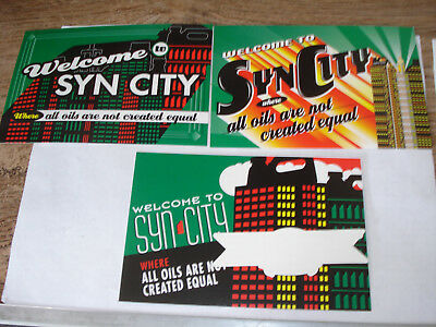 SYN CITY CASTROL Syntecsynthetic motor oil FORMULA ONE NASCAR Pangbourne UK auto