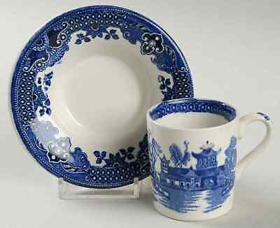 Burgess & Leigh WILLOW BLUE Demitasse Cup & Saucer S3792262G3