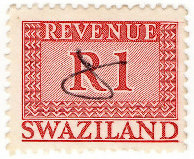 (I.B) Swaziland Revenue : Duty Stamp R1
