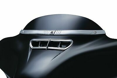 Kuryakyn Chrome Tri Line Batwing Fairing Windshield Top Trim Accent Harley 2631