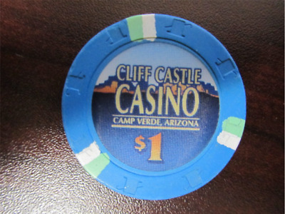 $1 blue CLIFF CASTLE CASINO Camp Verde AZ Gaming Poker Chip Las Vegas
