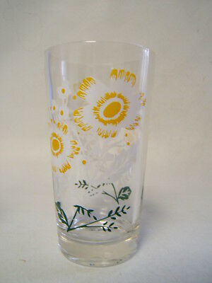 Peanut Butter Glass Cosmos White Flowers Gold Centers