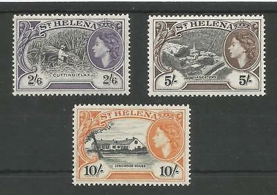 St Helena Sg163-5 The 1953-9 Qe2 Top Values Fine And Fresh Mnh Cat £85