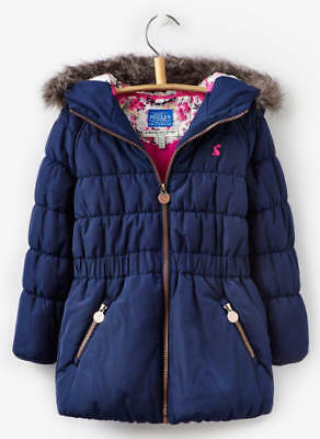 Joules Girls Merrydale Padded Coat- French Navy