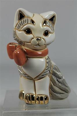 De Rosa Rinconada Family Collection NEW 'Baby Cat With Ribbon' #F372 New In Box