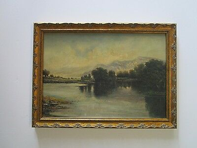 Antique Early California Plein Air Landscape Painting 1890's 19Th - 20Th Century