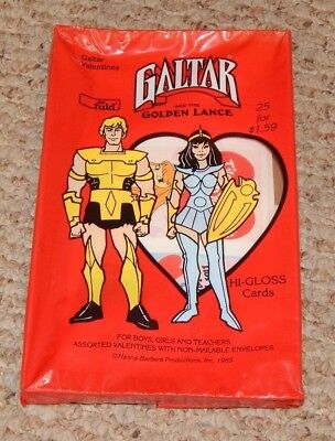 RARE 1985 Hanna Barbera Galtar and the Golden Lance Valentines MINT IN BOX OSS