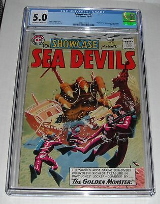 Showcase # 27.CGC Universal slab 5.0  VG-F grade--fb.1960 comic-1st Sea Devils