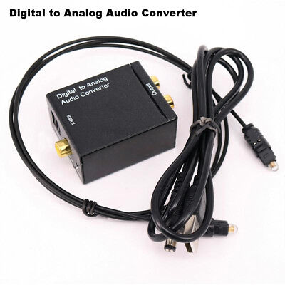 Optical Coaxial Toslink RCA L/R Digital Signal to Analog Audio Converter