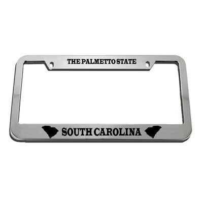 SC PALMETTO  south carolina License Plate Frame I/'D RATHER BE IN FOLLY BEACH