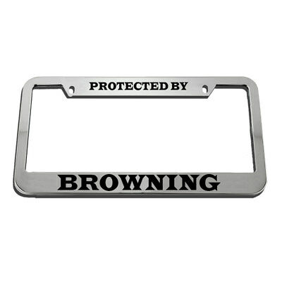 License Plate Frame Protected by Browning Zinc Weatherproof Car Accessories