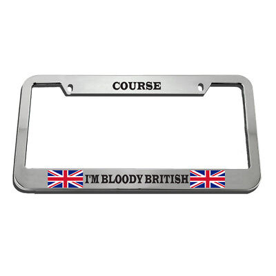 CHROME LIGHTED LICENSE Plate Frame w/ 3rd LED Brake Light street rat ...