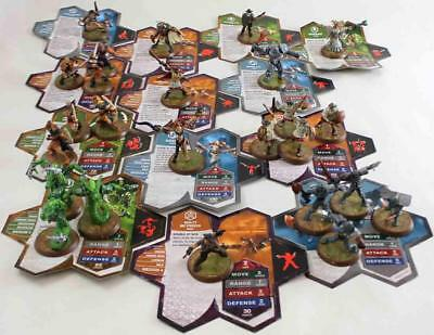 WOTC HeroScape Loose Figure Wave #4 - Zanafor's Discovery - Complete Set! NM