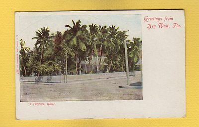 Key West,FL Florida Greetings from --a Typical home